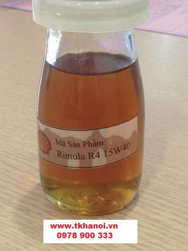 mầu dầu động cơ Shell, mẫu dầu Rimula R4X