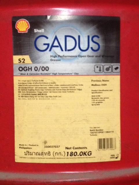 mỡ bánh răng hở Shell Gadus S2 OGH 0-00